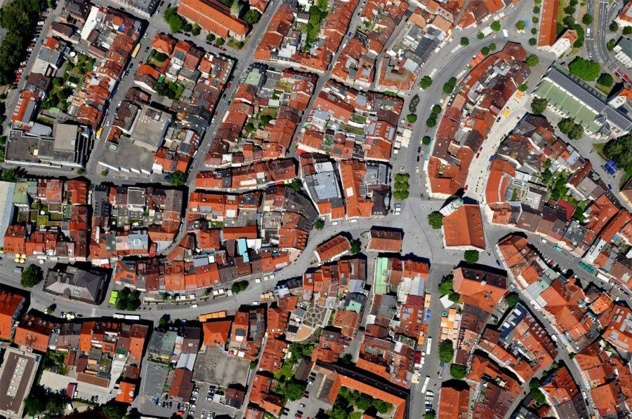 Luftbild Ravensburg Marienplatz