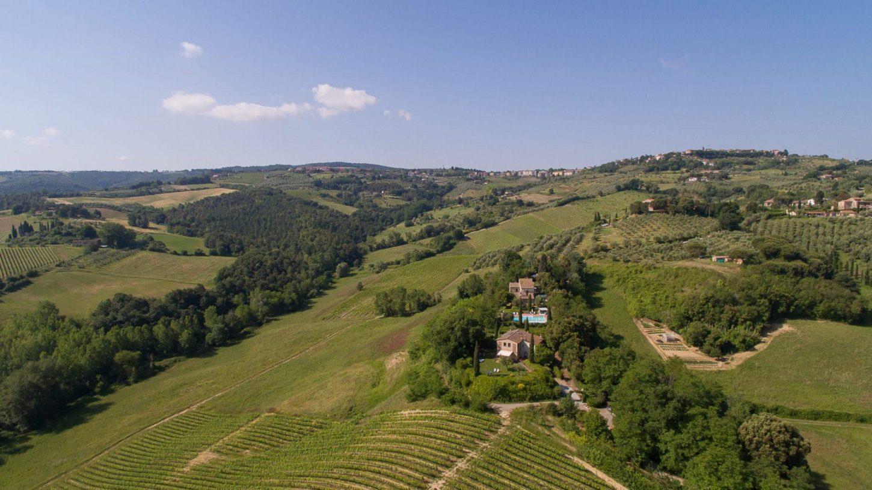 Toskana Luftbild